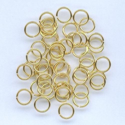 1 PK (1PK) Split ring gehard goudkleur 8 mm 50 ST