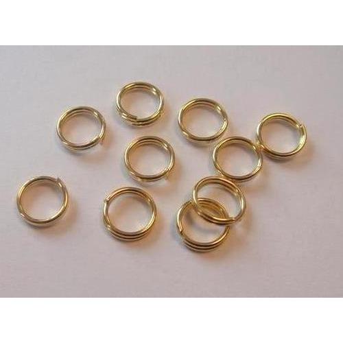 1 ST (1ST) Dubbel splitring goudkleur 6 mm 10 ST