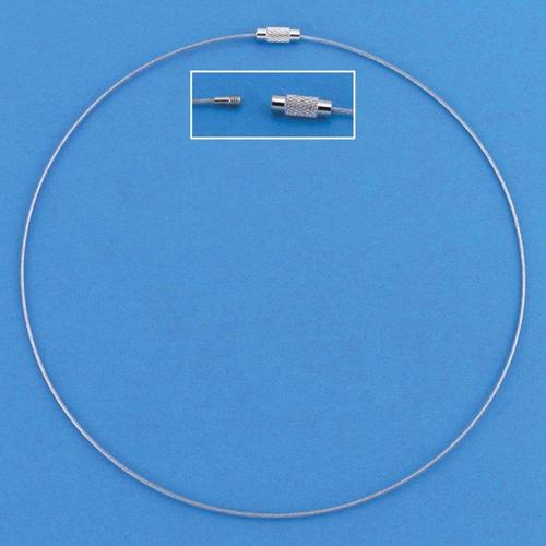 1 ST (1ST) Draad collier draaislot zilverkleur 45 cm 3 ST