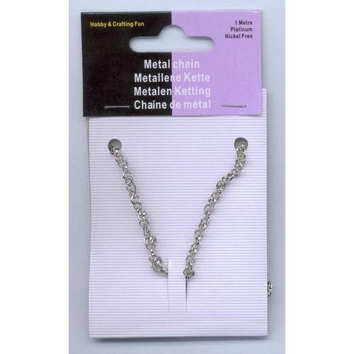 1 ST (1ST) Metalen ketting zilverkleur 3,5 mm 1 MT