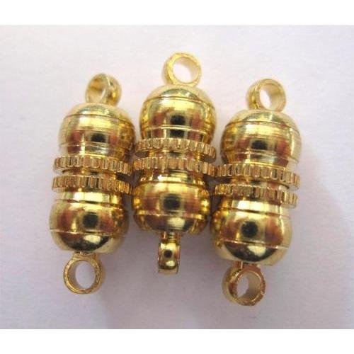 1 ST (1ST) Magneetsluitingen bolvorm goudkleur 10 mm 3 ST