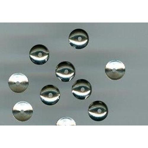1 ST (1ST) Kralenkap metaal zilver 6 mm 10 ST