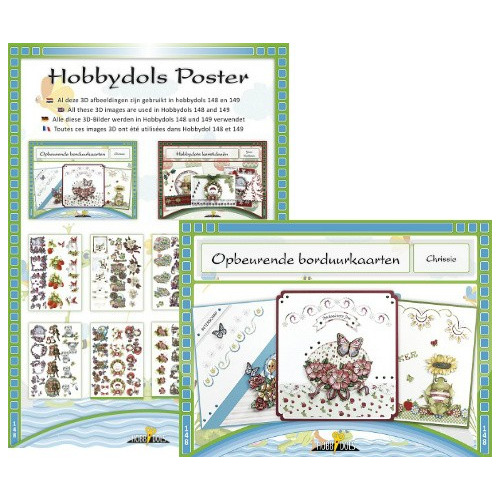 Hobbydols borduurkaarten set HD148+KVPHD148