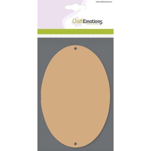 CraftEmotions MDF basisvormen ovaal (3 st) 10cm x 14,8cm x  3mm