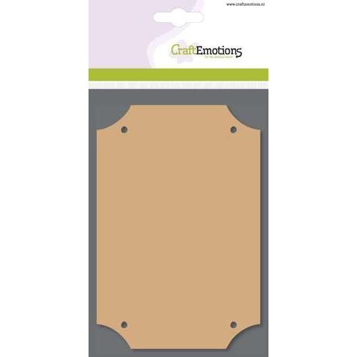 CraftEmotions MDF basisvormen rechthoek (3 st) 10cm x 14,8cm x  3mm