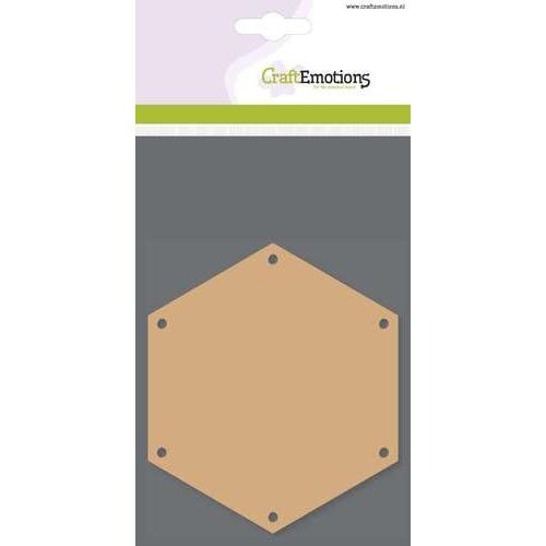 CraftEmotions MDF basisvormen zeshoek (3 st) 10cm x  3mm
