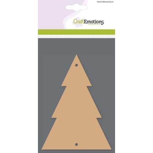 CraftEmotions MDF basisvormen kerstboom (3 st) 13,5cm x 10cm x 3mm