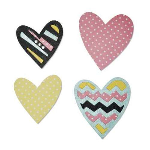 Sizzix Bigz Die - Tribal Hearts 660495 Craft Asylum ( 5-15 )