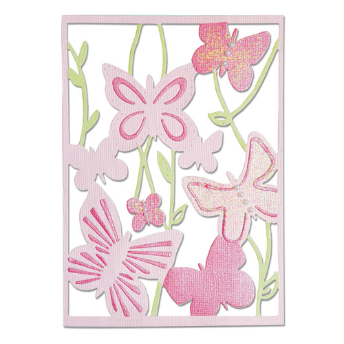 Sizzix Thinlits Die - Spring Garden 660432 Craft Asylum ( 7-15 )