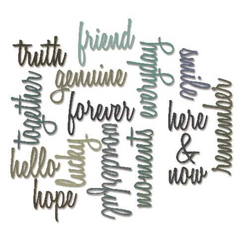 Sizzix Thinlits Die Set 16PK - Friendship Words Script 660225 Tim Holtz ( 5-15 )