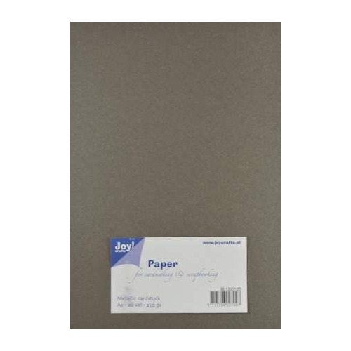 Joy! Crafts Metallic cardstock karton 20 vel A5 antraciet