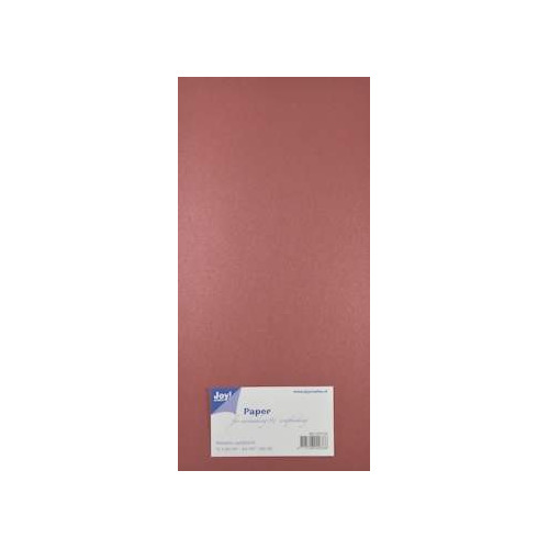 Joy! Crafts Metallic cardstock karton 20 vel 15x30 cm rood - 8013/0134