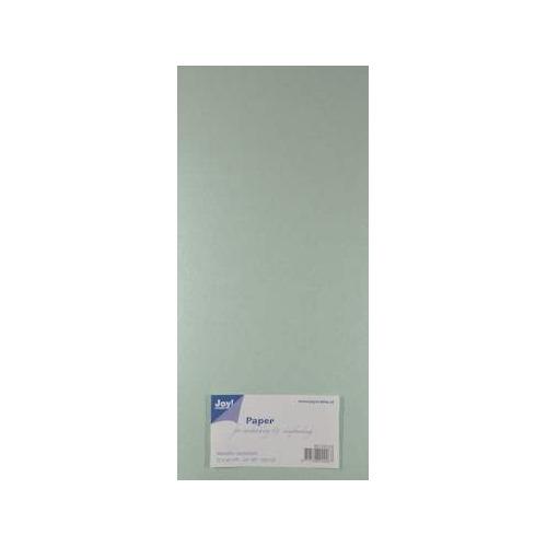 Joy! Crafts Metallic cardstock karton 20 vel 15x30 cm licht groen - 8013/0124