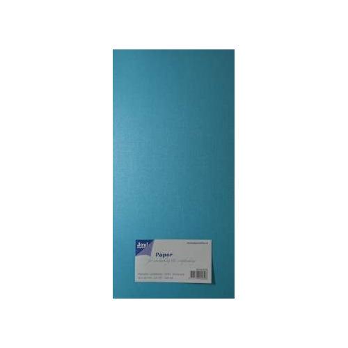 Joy! Crafts Metallic cardstock linnen karton 20 vel 15x30 cm blauw - 8099/0230