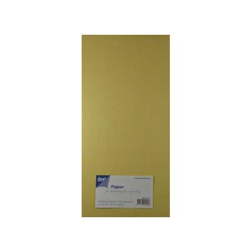 Joy! Crafts Metallic cardstock linnen karton 20 vel 15x30 cm creme - 8099/0227
