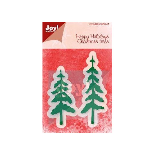 Joy! Cutting & Embossingstencil - Happy Holidays - Christmas Trees