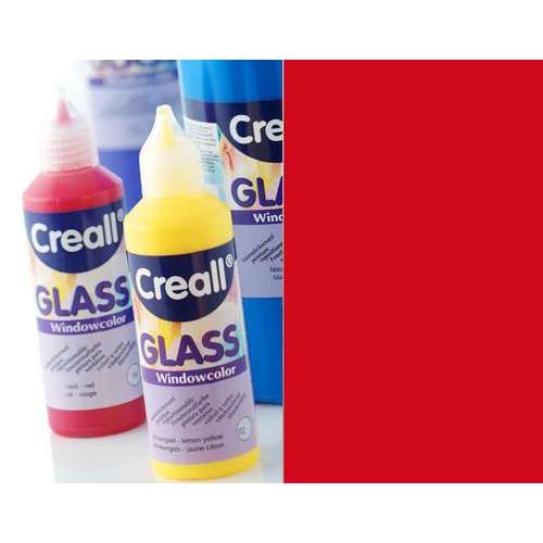 1 FL (1 FL) Glass - glasstickerverf donker rood 80 ML
