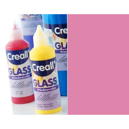 1 FL (1 FL) Glass - glasstickerverf roze 80 ML