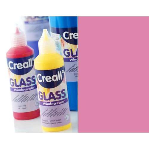 1 FL (1 FL) Glass - glasstickerverf roze 80 ML