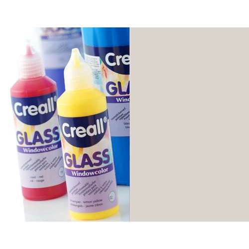 1 FL (1 FL) Glass contour -  glasstickerverf zilver 80 ML