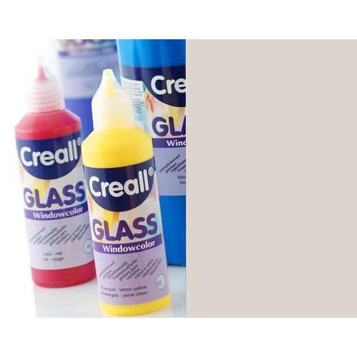 1 FL (1 FL) Glass contour -  glasstickerverf zilver 80 ML
