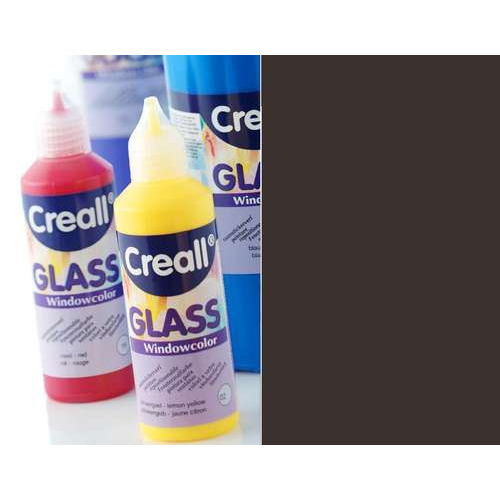 1 FL (1 FL) Glass contour -  glasstickerverf zwart 80 ML