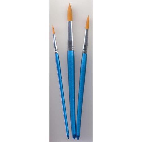 1 ST (1ST) Penselen set nylon 3x rond 3 ST
