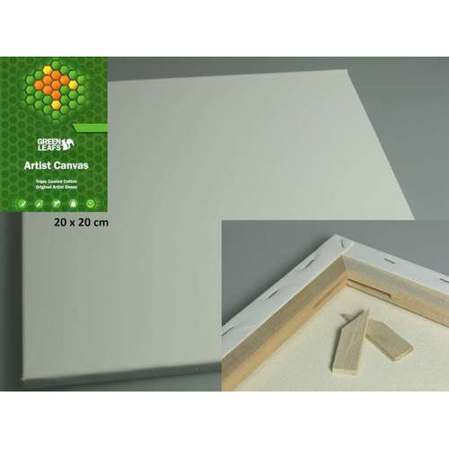 1 ST (1 ST) Canvasdoek 20x20CM   1,7 cm  420gram