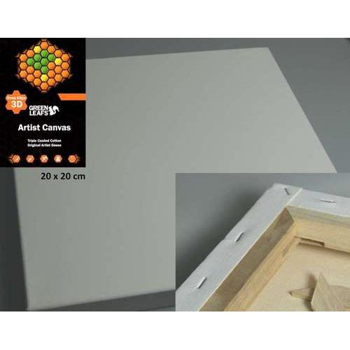 1 ST (1 ST) Canvasdoek 3D 20x20CM   3,8 cm  420gram