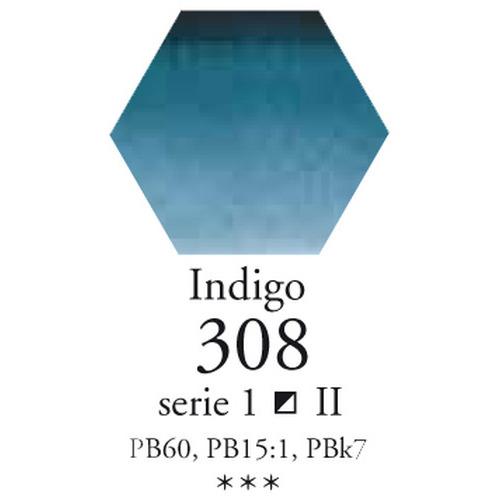 Sennelier L'aquarelle halve napjes indigoblauw