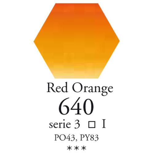 SennelierL'aquarelle halve napjes rood oranje
