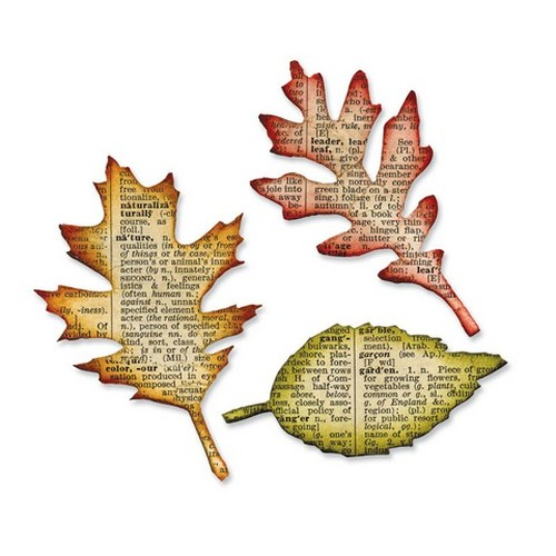 1 PK (1 ST)  Bigz die Tattered Leaves 656927 Tim Holtz