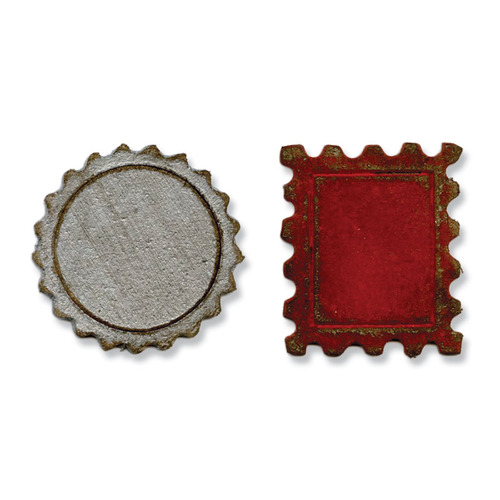 1 ST (1 ST)  Movers&Shapers Magn. Die Set Mini Bottle Cap&Sta 658559 Tim Holtz