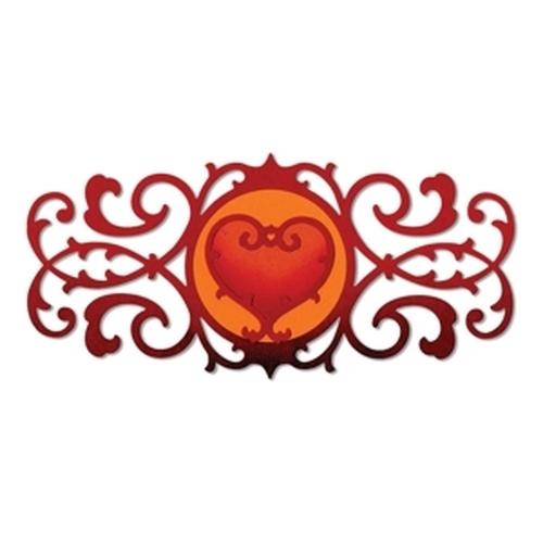 1 ST (1 ST)  Thinlits Dies Decorative Border & Heart 658946 Jen Long-Philipsen
