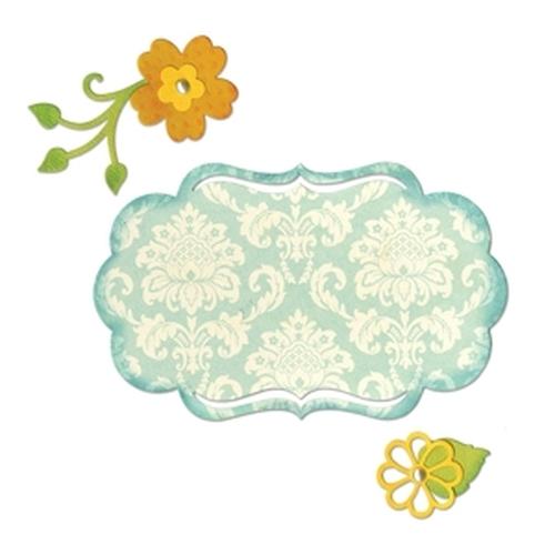 1 ST (1 ST)  Thinlits Dies Fancy Label & Flowers 658956  Rachael Bright
