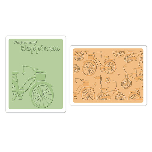 1 ST (2 ST)  Textured Impr. Emb. Folders Bicycles 658482 Rachael Bright