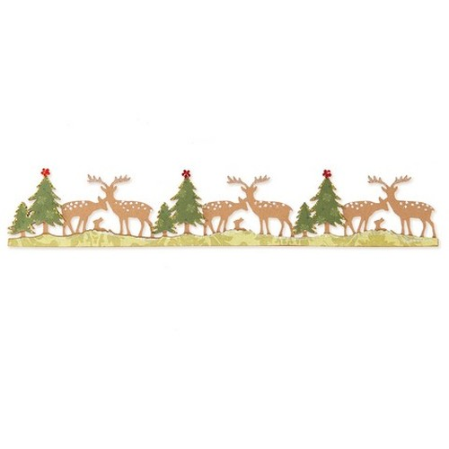 1 ST (1 ST) Sizzlits Dec. Strip Die Woodland Deer 658736 Brenda Walton
