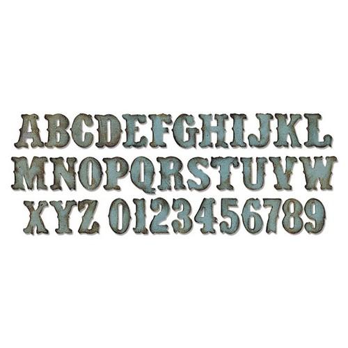 1 ST (1 ST) Bigz XL Alphabet Die Vintage Market 658772 Tim Holtz