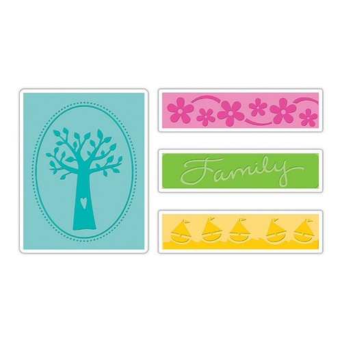 Sizzix Text.Impr.Emb.Folders (pc) - Family Tree Set 658991 Eileen Hull (NEW 02-14)
