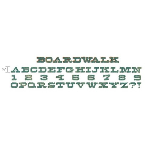 Sizzix  Decorative Strip Alphabet Die - Boardwalk 659427 Tim Holtz ( NEW 05-14 )