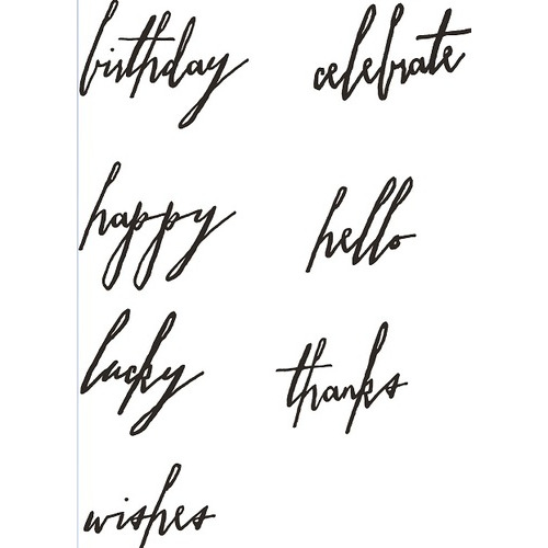 Sizzix Thinlits Die Set 7PK - Handwritten Celebrate 660215 Tim Holtz ( 3-15 )