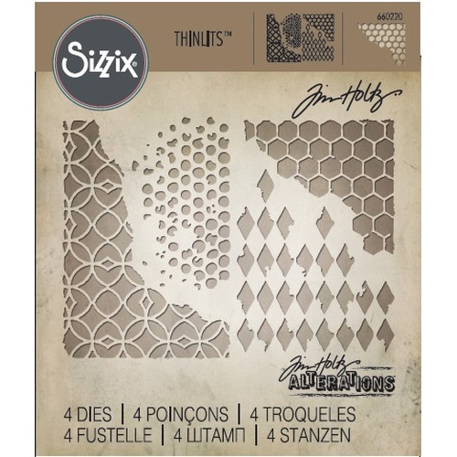 Sizzix Thinlits Die Set 4PK - Mixed Media 660220 Tim Holtz ( 2-15 )