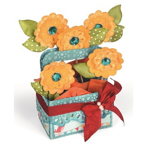 Sizzix Bigz XL Die - Card in a Box, A2 Flower Basket 660297 Lori Whitlock ( 4-15 )