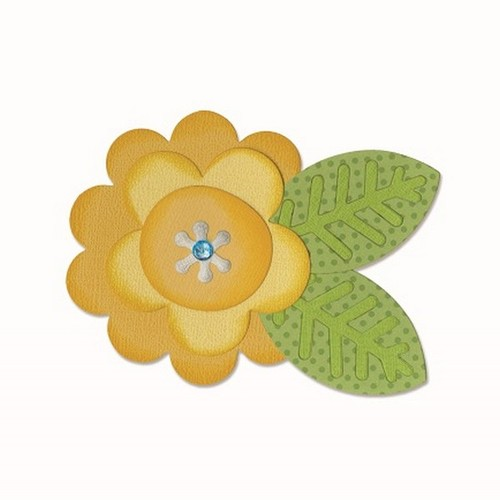 Sizzix Bigz Die - Flower Layers & Leaf #2 660403 Doodlebug design ( 4-15 )