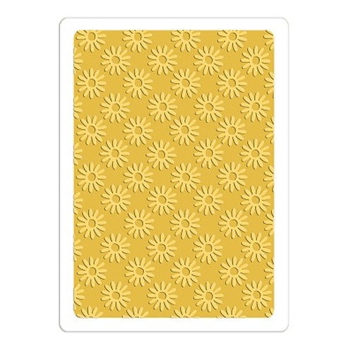 Sizzix Textured Impressions Embossing Folder - Tiny Daisies 660406 Doodlebug design ( 4-15 )