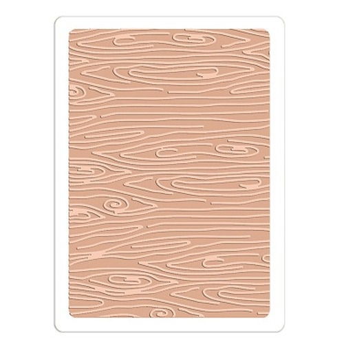 Sizzix Textured Impressions Embossing Folder - Woodgrain #3 660408 Doodlebug design ( 4-15 )