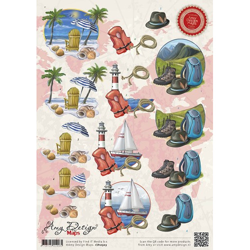 3D Knipvel - Amy Design - Maps - Vakantie