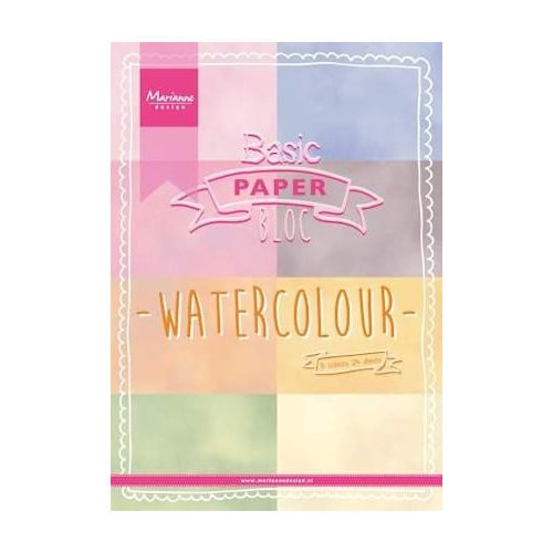 Marianne Design - Paperpack - Pretty Papers - Watercolor