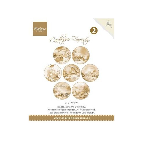 Marianne Design - Paperpack - Card Toppers - sepia favourites Mattie