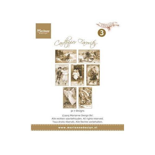 Marianne Design - Paperpack - Card Toppers - sepia favourites Vintage